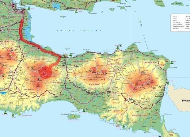 peta perjalanan surabaya-bromo