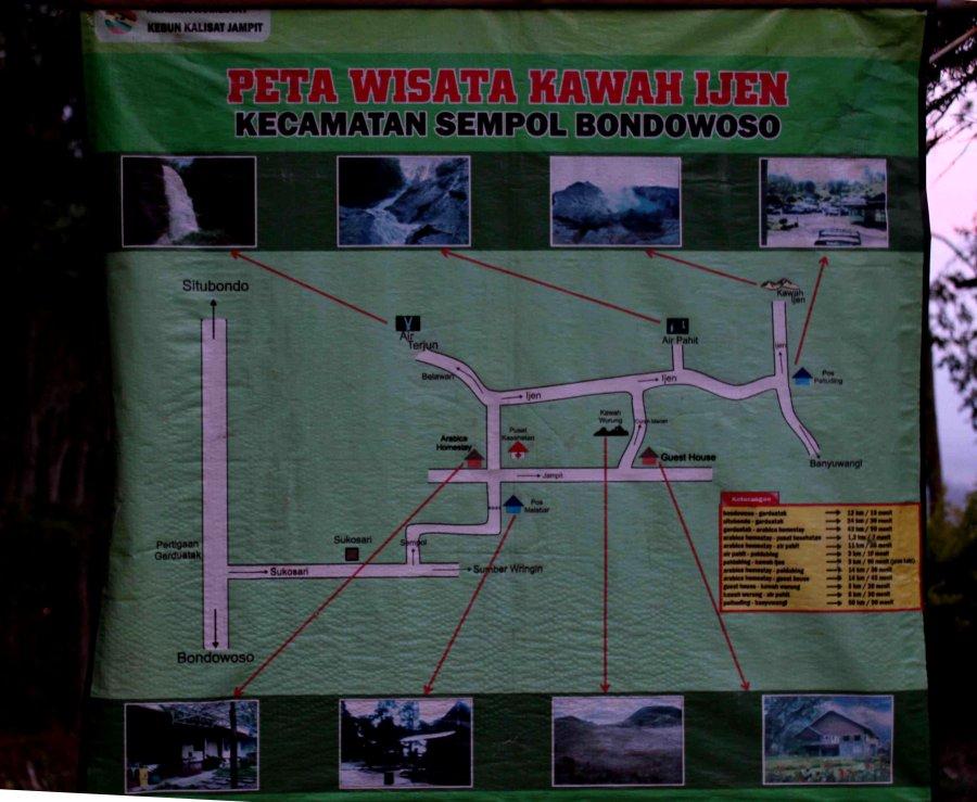 peta kawasan wisata ijen (foto oleh sansan)