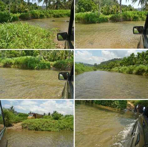 mobil masuk sungai
