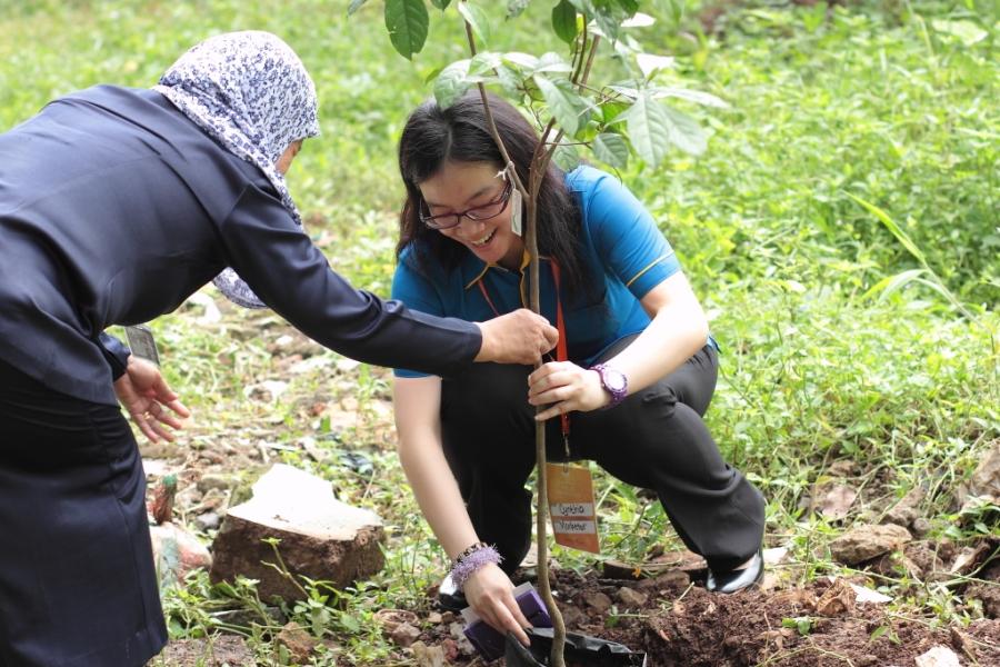 menanam pohon cita-cita (foto : spt)