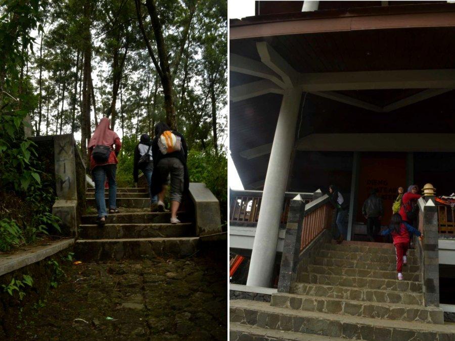 tangga menuju dieng plateu theater