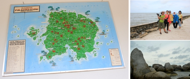 peta belitong dan sebagian keindahannya
