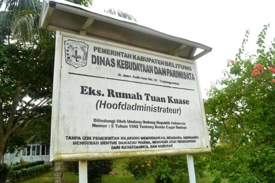 papan nama rumah eks kepala timah