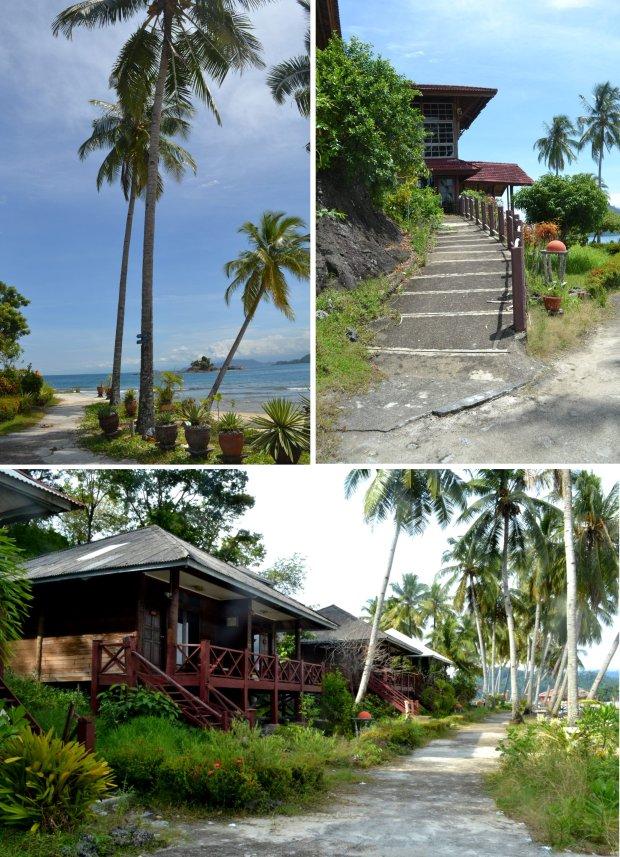jalan, pantai, dan cottage
