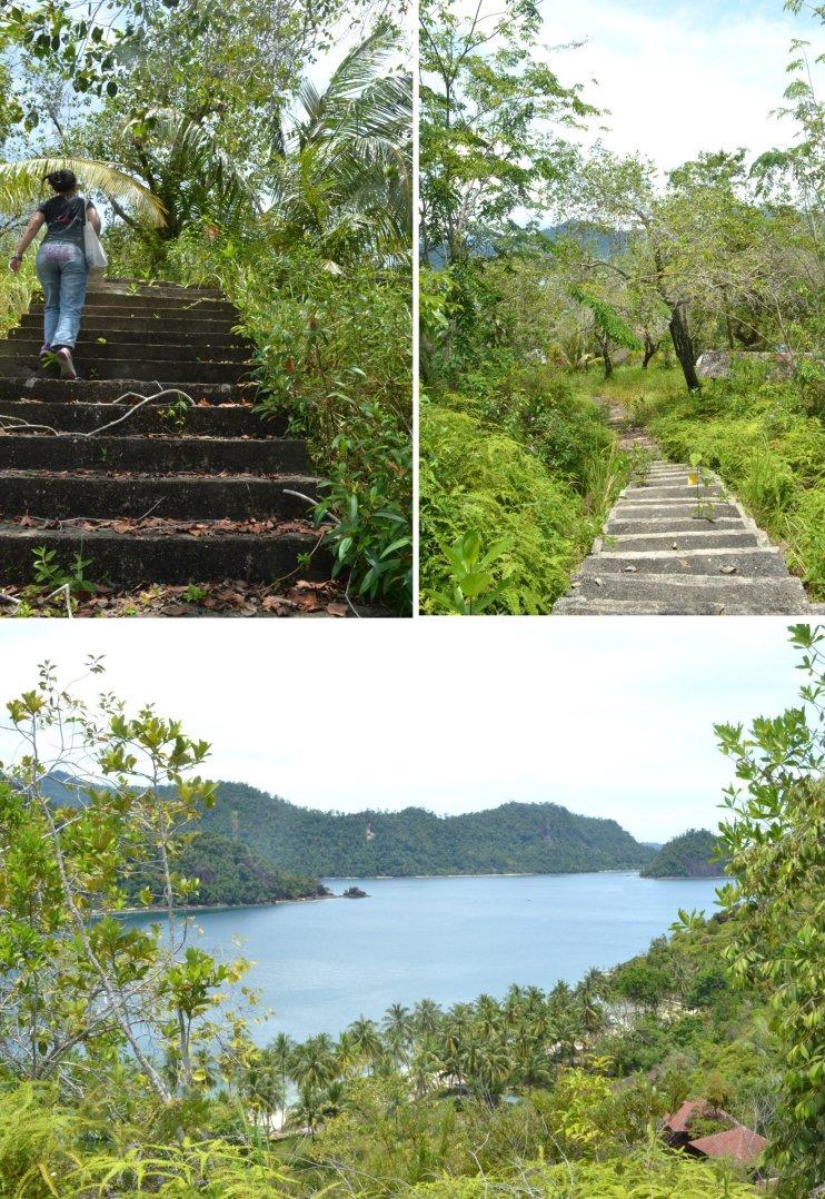 tangga naik ke bukit sikuai. ratusan!