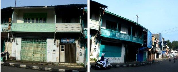 rumah toko yang masih digunakan bertinggal dan berniaga