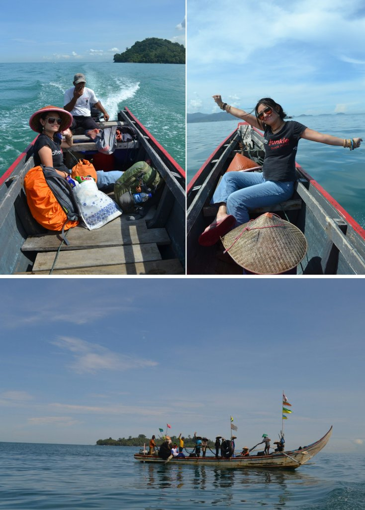 di kapal bertemu dengan nelayan melaut