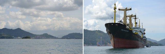 kapal besar lepas pantai teluk bayur