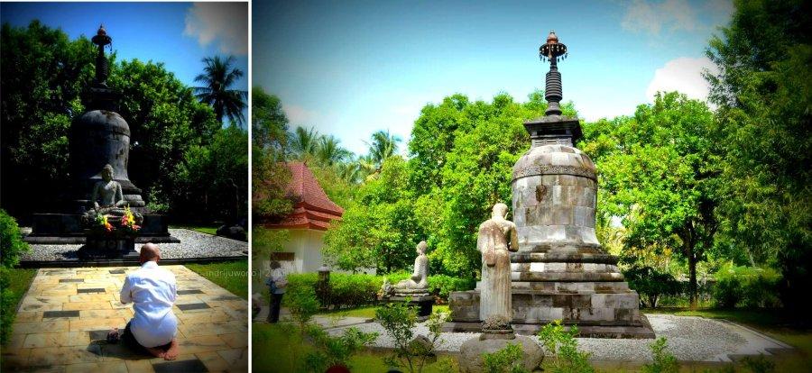 buddha dan stupa