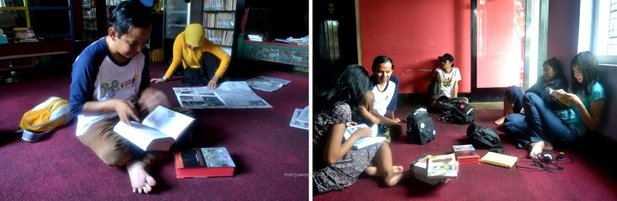 ruang membaca, bersantai dan berkumpul