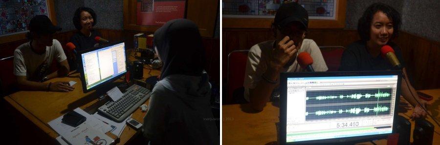 di dalam studio sambil tapping suara (foto diambil oleh Pra)