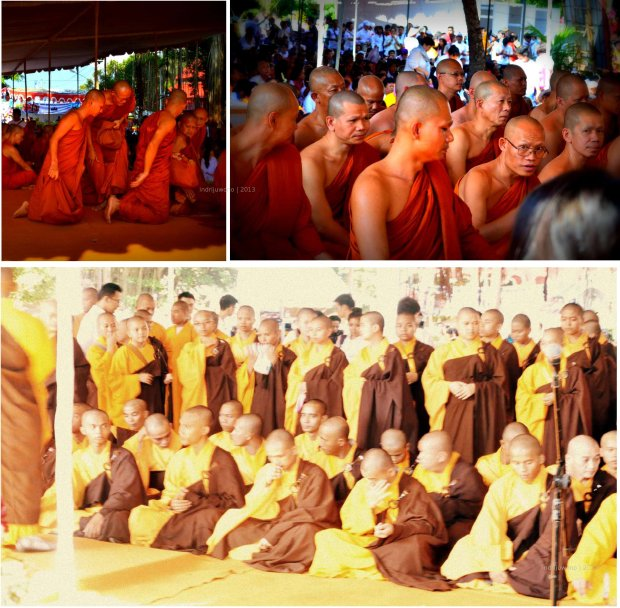 biksu yang menunggu detik-detik waisyak