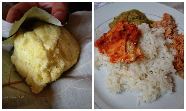 gowi ni fufu (kiri) dan makanan khas lain