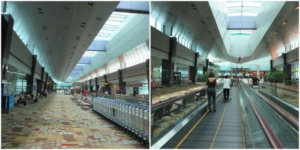 koridor lebar menuju terminal kedatangan