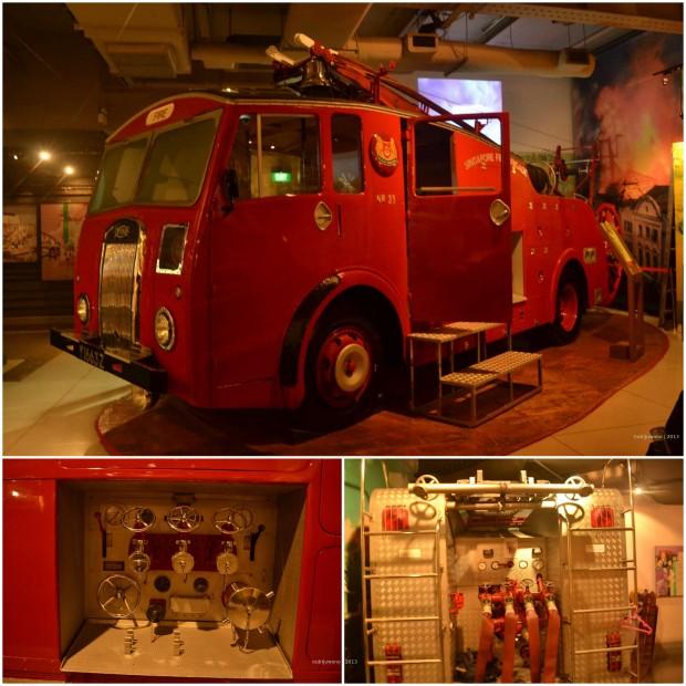 peralatan di dalam mobil pemadam kebakaran