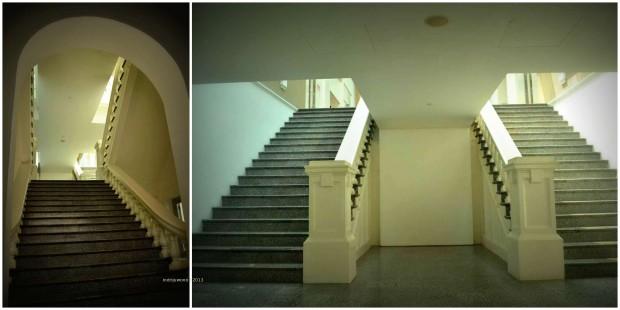 tangga dengan granit hitam