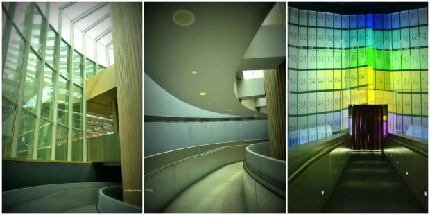 ramp spiral turun ke basement museum