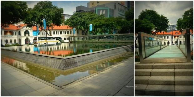 water garden di depan singapore art museum