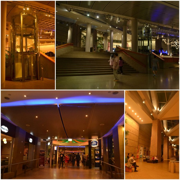 lift, tangga, dan koridor dalam lobby esplanade