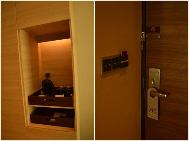 fit-out cabinet dan pintu berlapis HPL senada