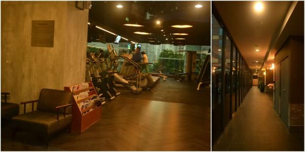 ruang fitness dan koridor