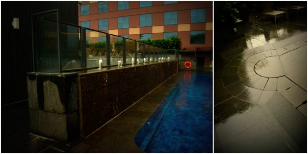 pool deck dan overflow andesit