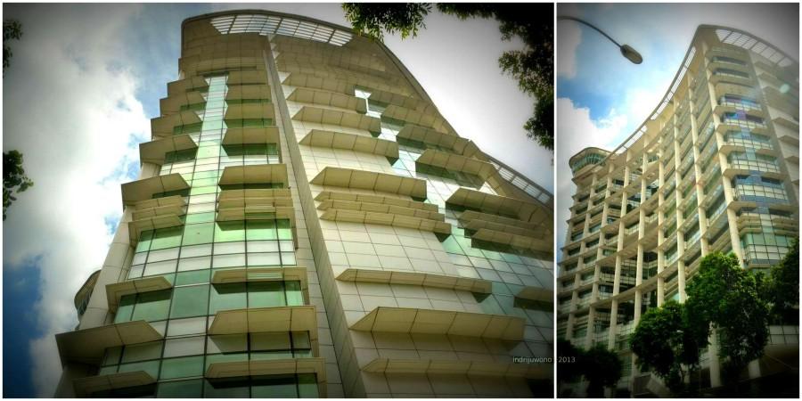 facade depan dengan sun shading