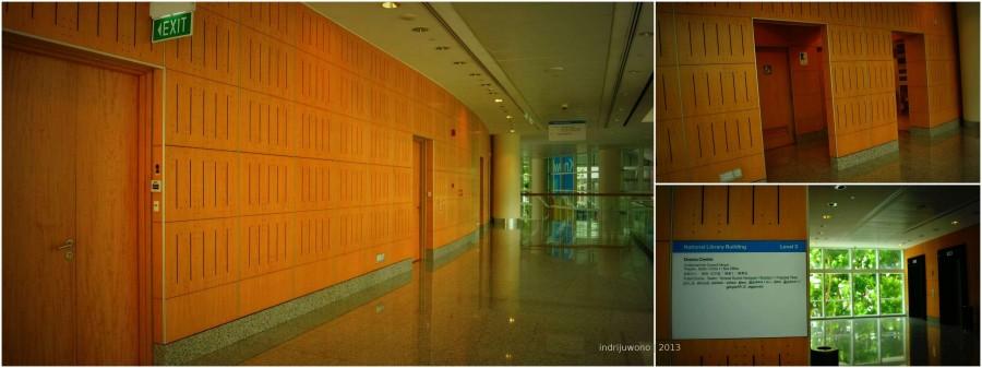 drama centre, salah satu pintu masuknya di lantai 3