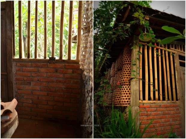 jendela bambu vertikal. tembus airkah?