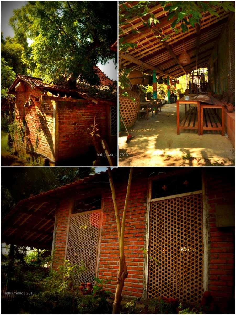 pohon tetap berdiri, galeri terbuka, ventilasi bambu
