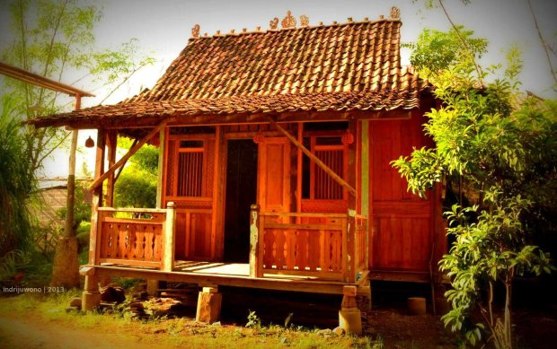 rumah kayu yang dipamerkan