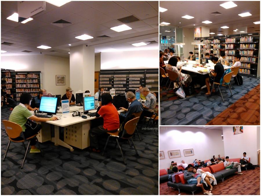koleksi multimedia, ruang membaca, bahkan bercengkrama