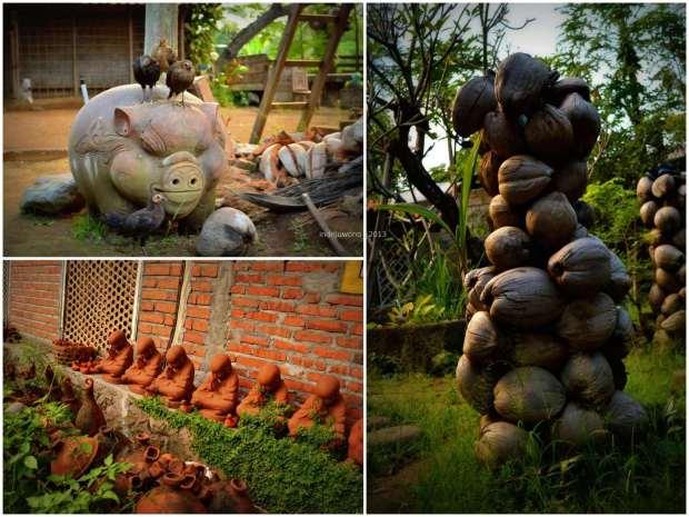 sculpture yang menjaga rumah intaran