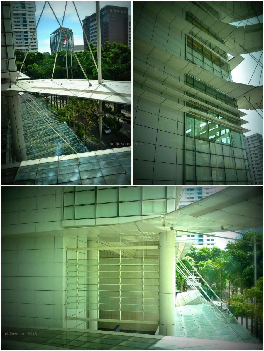 sun shading pada sisi bangunan