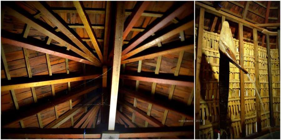 struktur atap dan pancuran buatan sendiri