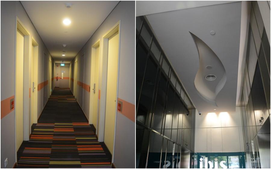 koridor kamar dan lift lobby