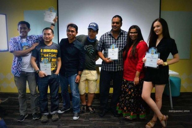 pemenang asia pasific: ariev (indonesia, hyee (thailand), lantau (filipina), lee (korea) travel & beyond (singapore), brooke (australia)