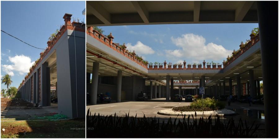jalan di tengah persimpangan koridor