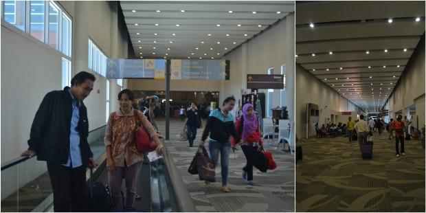 koridor menuju ruang tunggu pesawat
