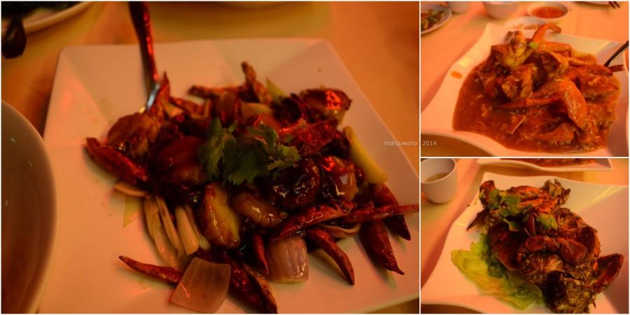 kepiting berbagai rasa. enak dan enak banget.