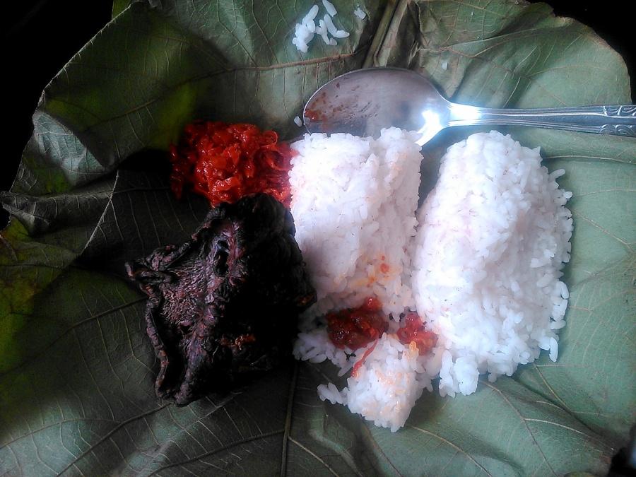 nasi jamblang pagi bawaan mama