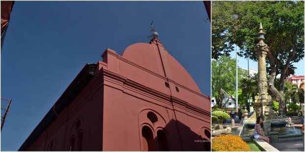 ornamen yang 'gundul' di belakang gereja