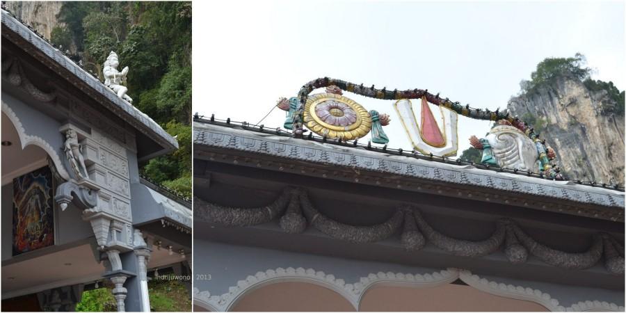 ornamen di kuil hindu