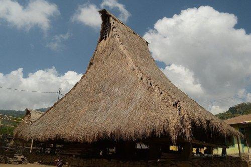 sa'o ria dengan atap menjuntai ke bawah