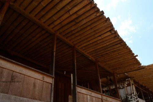 atap teda wewa dari bambu