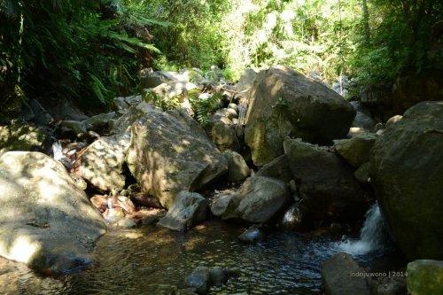 sungai mengalir yang airnya segar diminum