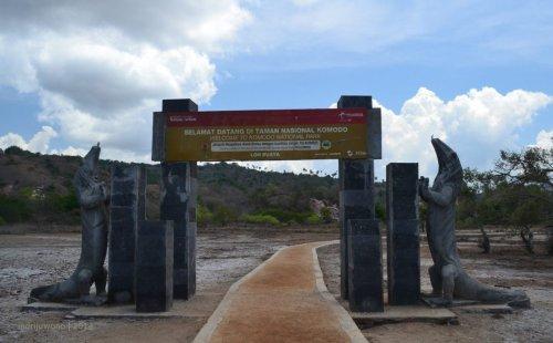 gerbang masuk taman nasional yang tersembunyi.