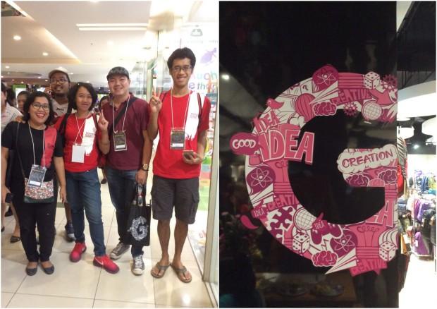 Titi @parah1ta, Farchan @efenerr, Leo @cool4myeyes dan Fahmi Kucing @catperku sebelum berpusing-pusing di Gramedia