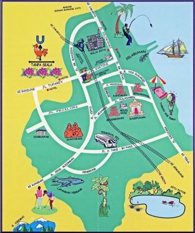 peta wisata cirebon (sumber : www.wisatacrb.wordpress.com)