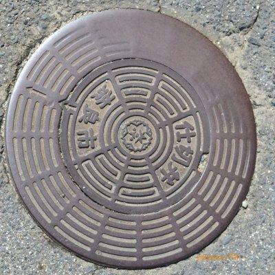 manhole cover lain di NARA, mungkin fungsi utilitas di bawahnya berbeda